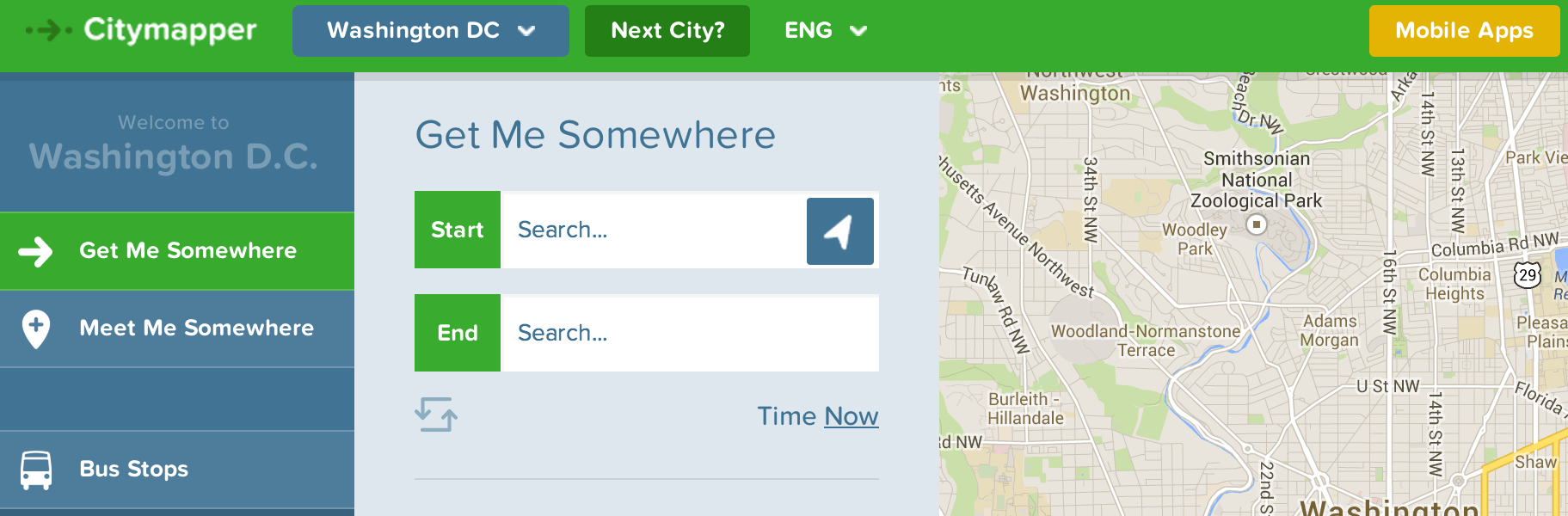 Citymapper Adds Boston, Washington DC to its Android App