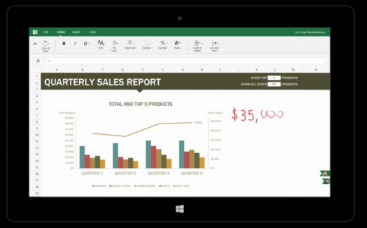 excel1 520x323 Microsofts touch first Modern Office suite revealed in documents