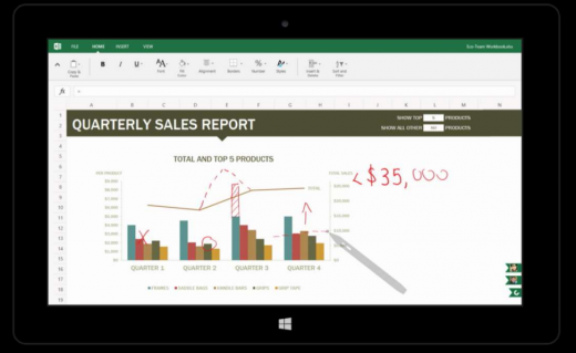 excelink 520x319 Microsofts touch first Modern Office suite revealed in documents