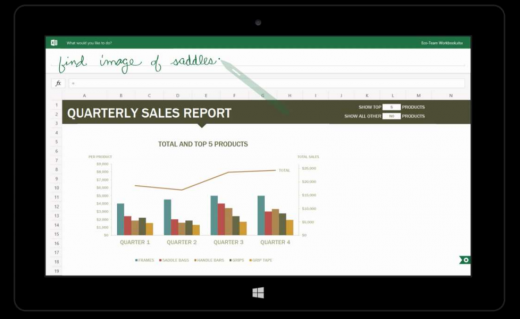 excelsearch 520x319 Microsofts touch first Modern Office suite revealed in documents
