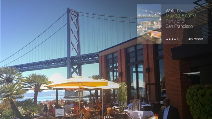 glass travel pic 730x410 Google Glass now has dedicated apps for TripIt, Foursquare and OpenTable