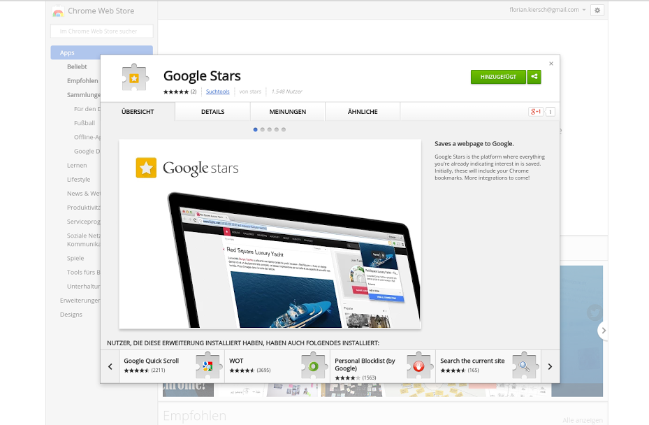 google stars ext Google Stars extension for Chrome leaks: Hands on
