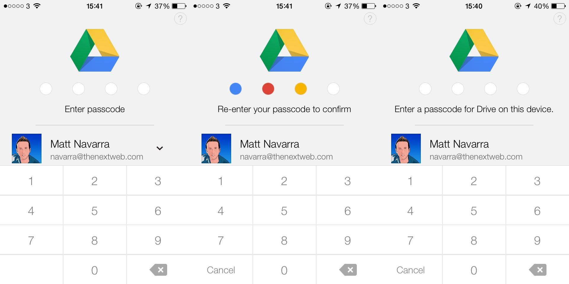 google drive ios passcode Google Drive for iOS gets a 4 digit passcode lock, but loses support for document editing