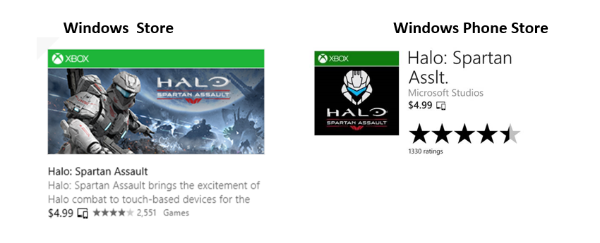 halo universal 3D490785 706A6A56 Windows Store updated with persistent navigation bar, multiple featured titles, and shared app identities