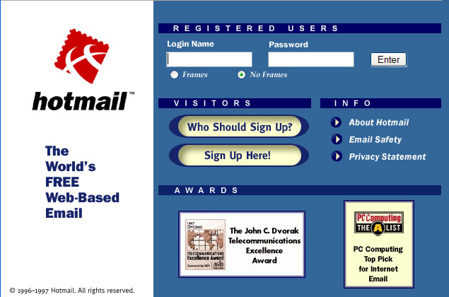hotmail 9 iconic growth hacks tech companies used to boost their user bases
