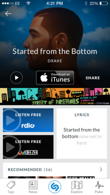 image001 220x390 Shazam will soon let users in the UK, Germany, Mexico and Brazil listen to tagged tracks on Deezer