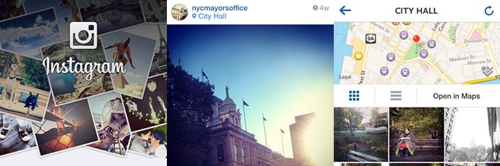 instagram foursquare