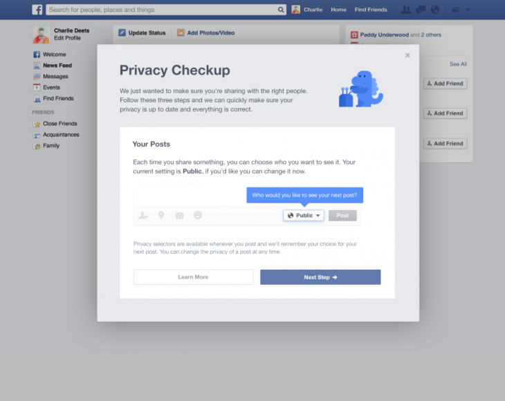 making it easier to share with who you want 2 730x580 Facebook changes default privacy setting of new users posts from Public to Friends