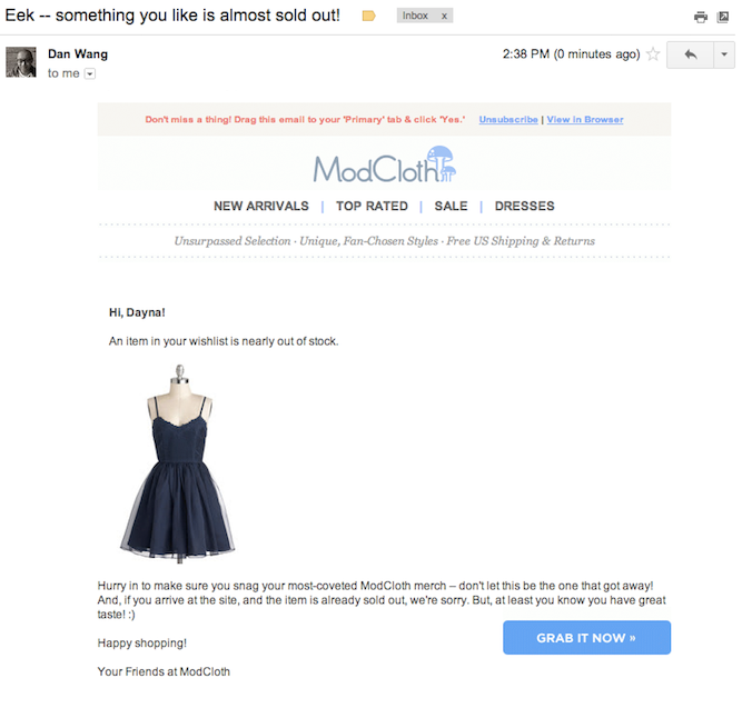 modcloth autoresponder How to successfully use email autoresponders without being obnoxious