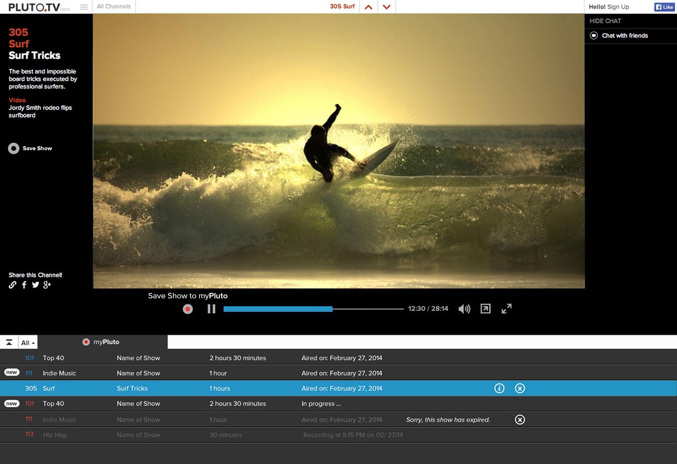 Web TV Service Pluto.TV Adds a DVR Feature