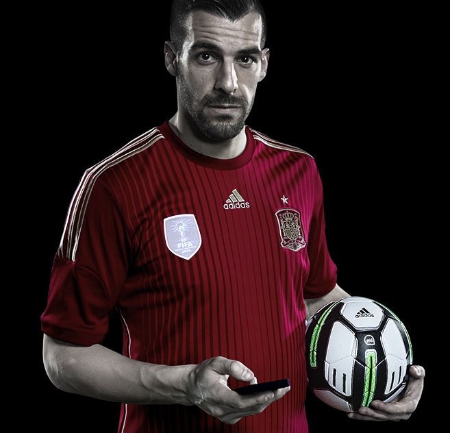 negredo Adidas miCoach Smart Ball uses sensors and a companion app to help you bend it like Beckham