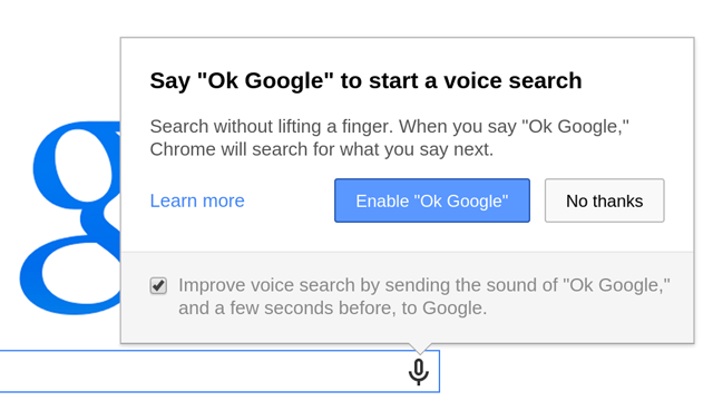 ok google Chrome 35 launches with OK Google voice search, more control over touch input, new APIs and JavaScript features