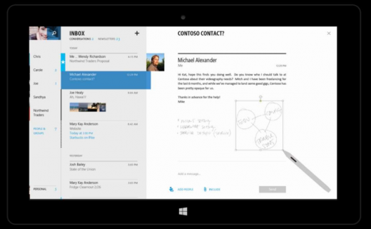 outlook2 520x321 Microsofts touch first Modern Office suite revealed in documents