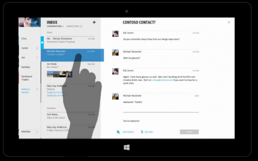 outlook3 520x325 Microsofts touch first Modern Office suite revealed in documents