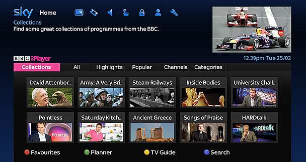 p01z6sl9 BBC iPlayer for Sky+HD gets a revamped home screen, navigation, Collections area, and more