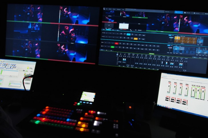 The control room for Peloton's livestreamed classes