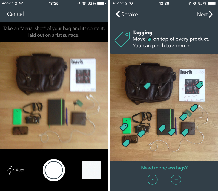 sakoos1 Sakoos for iOS is a photo sharing app that answers one simple question: Whats in your bag?