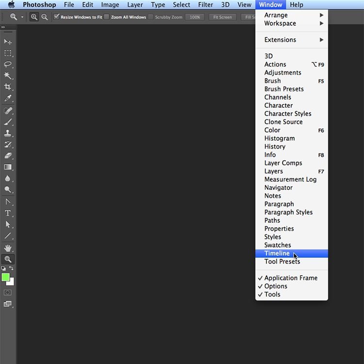 static.squarespace 1 Mystery solved: Wheres the animation window in Photoshop Creative Cloud?