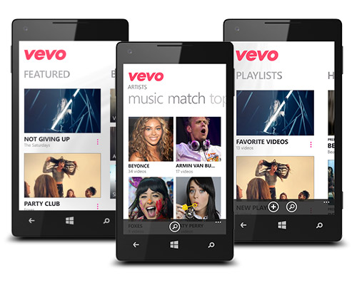 tiled Vevo for Windows Phone gets updated with a new Home screen and better browsing features