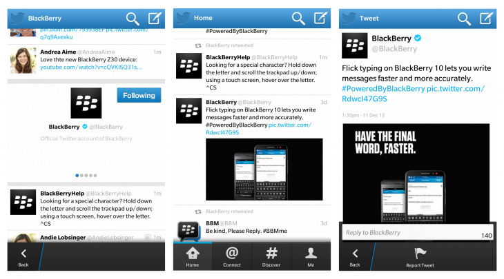 twitter screens 730x405 Twitter for BlackBerry 10 gets draft tweets, swipeable timelines, new photo options, and more