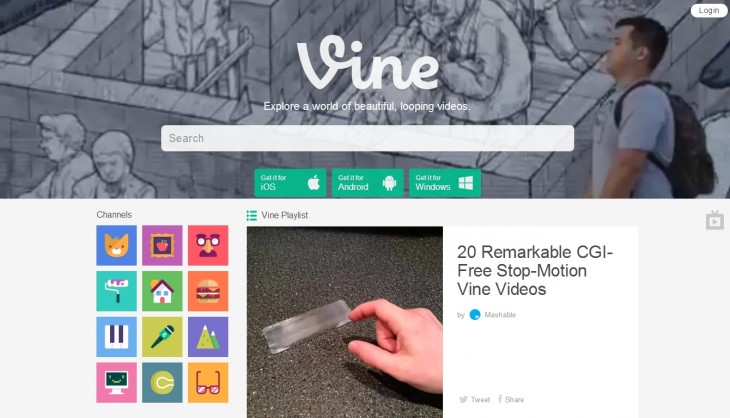 vine 730x418 Vine for the Web revamped around content discovery; videos are now viewable to non users
