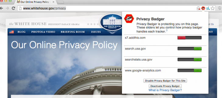 whitehouse2 730x323 EFF's new Privacy Badger Chrome extension helps prevent online tracking