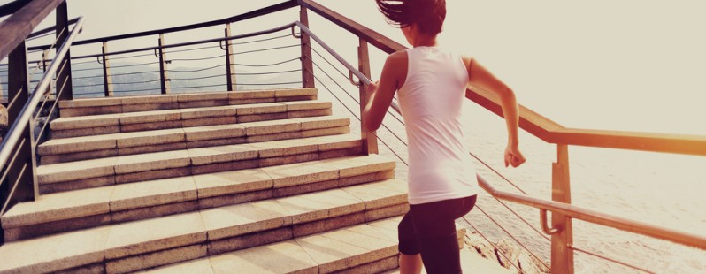 woman running exercising