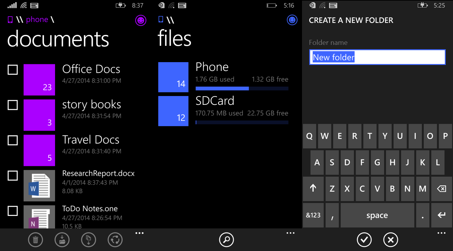 wp file manager 1 Windows Phone 8.1 to get File Manager by the end of May, Cortana gets feedback site and hint of PC version