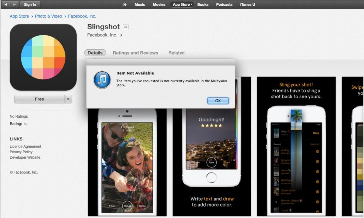 0609 slingshot gone 730x438 Facebook takes another crack at ephemeral messaging with Slingshot [Update: app pulled off iTunes]