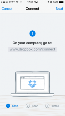 0624 dropbox 220x390 Add a computer to your Dropbox account with the iOS app