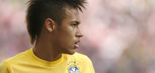 Brazilian forward Neymar is seen during