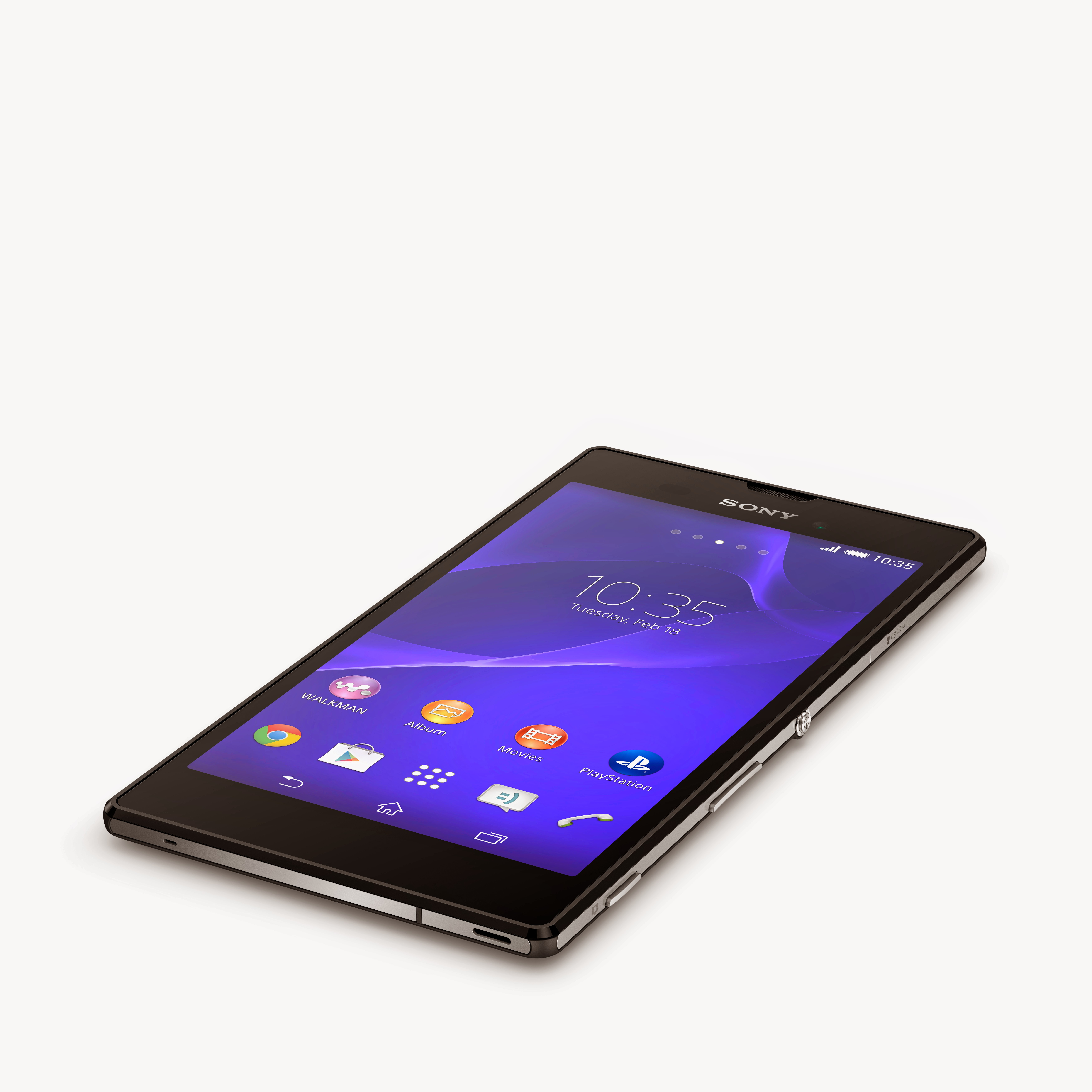 2 Xperia T3 Black Tabletop Sony unveils the Xperia T3, touted as the worlds slimmest 5.3 inch smartphone
