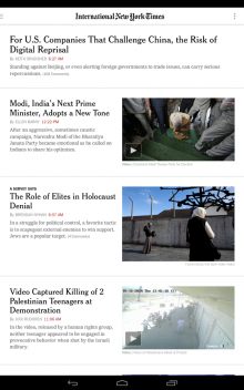 Android NYTimesInternational 220x352 The New York Times Android app now lets you switch between International and US editions
