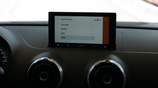 Android auto 13 520x292 Hands on with the Audi A3 with Android Auto