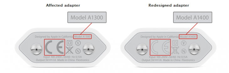 Apple adapters 730x232 Apple warns some iPhone power adapters may pose safety risk, offers replacement