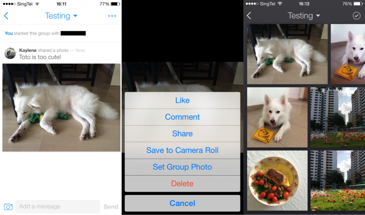 BeamIt 1 730x431 BeamIt is a new visual messaging iOS app from photo sharing service Cooliris
