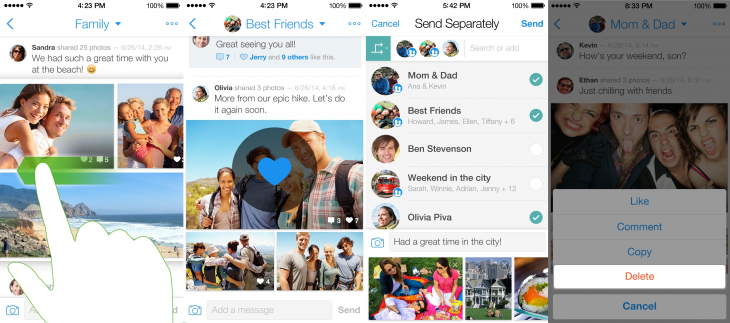 BeamIt 2 730x323 BeamIt is a new visual messaging iOS app from photo sharing service Cooliris