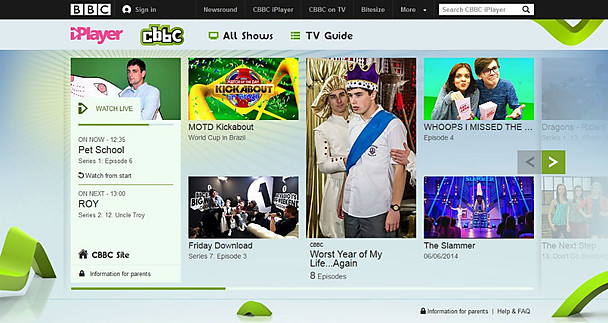 CBBCiplayer BBC gives its child friendly CBBC iPlayer a serious makeover ahead of CBeebies iPlayer redesign