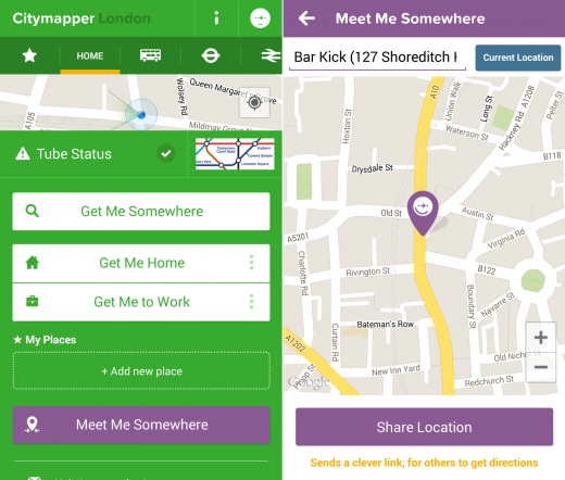 CityMapper 520x442 Citymapper adds Meet Me Somewhere feature to its native Android app