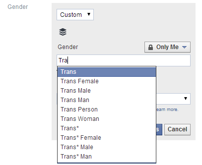 FacebookGender Facebook extends its custom gender options to UK users