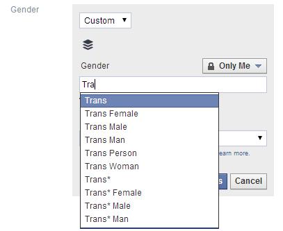 FacebookGender Facebook amplía sus opciones de género a medida para usuarios del Reino Unido