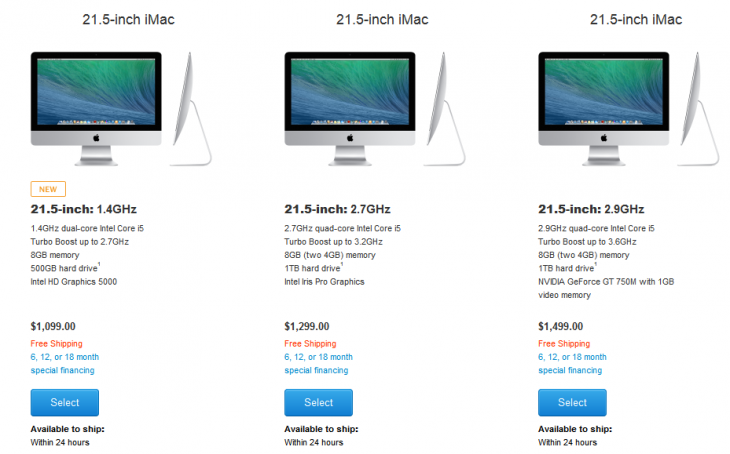 FireShot Screen Capture 195 iMac Buy iMac Desktop Computers Apple Store U S  store apple com us buy mac imac 730x454 Apple introduces a new cheaper iMac for $1,099
