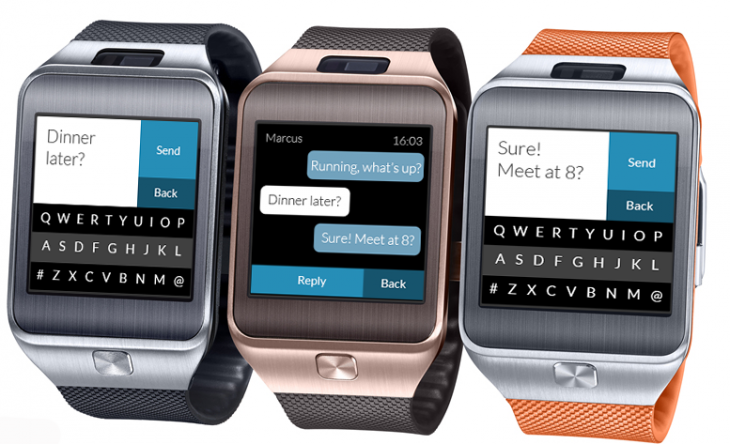 Fleksy Messenger Present 02 730x444 Fleksy finally launches its keyboard app for the Tizen powered Samsung Gear 2