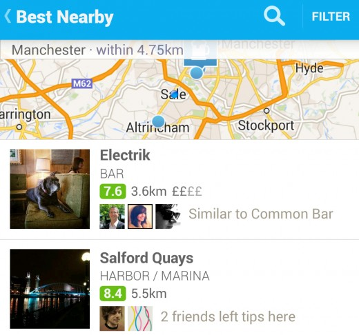 Foursquare 520x486 Facebooks emotion experiment wasnt just another A/B test, and we need to be algorithm savvy