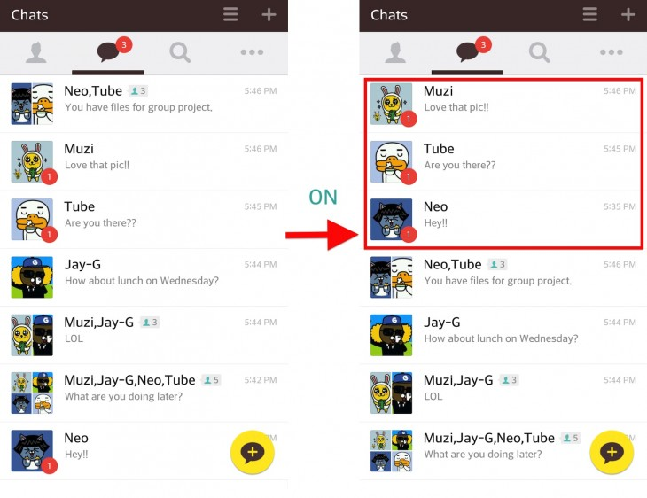 Image Kakao Lab Unread Chatrooms 730x562 Kakao Talk adds a lab to its Android chat app to let users beta test new features