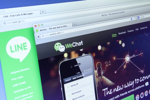 Line and Wechat 520x346 Why Facebook isnt getting into the lucrative chat app gaming space