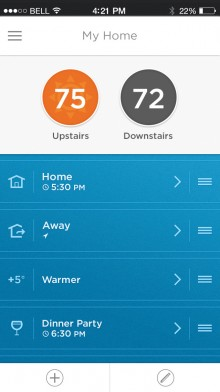 Lyric in iPhone 5S e1402378595403 220x392 Honeywell heats up its connected home efforts with Lyric, an intelligent round thermostat