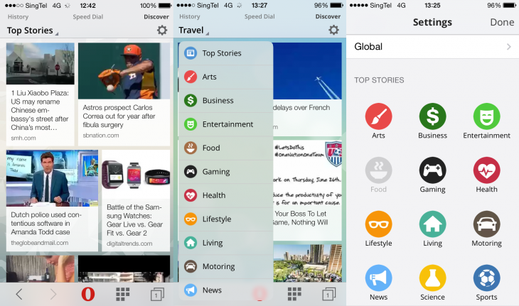 Opera Mini 8 1 730x431 Opera Mini for iOS gets a design overhaul, new data savings options, and a discovery page