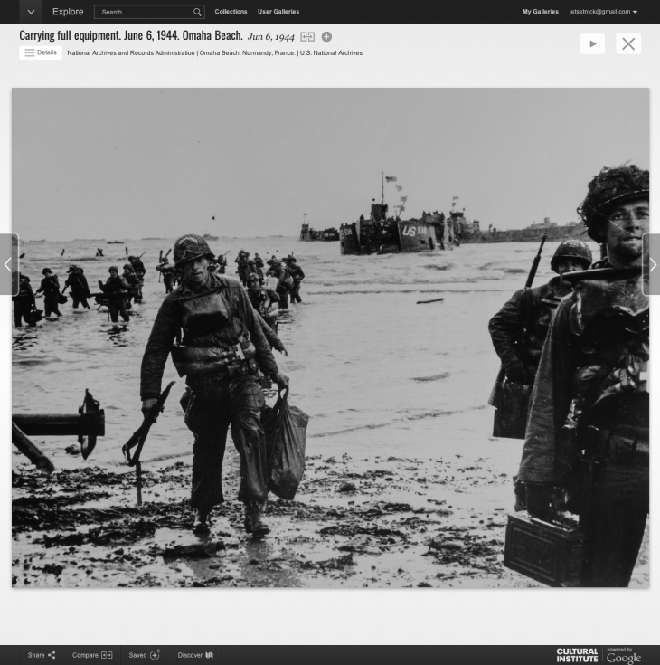 Screen Shot 2014 06 06 at 11.10.33 730x735 Google marks D Days 70th anniversary with a huge online exhibit for the Normandy landings
