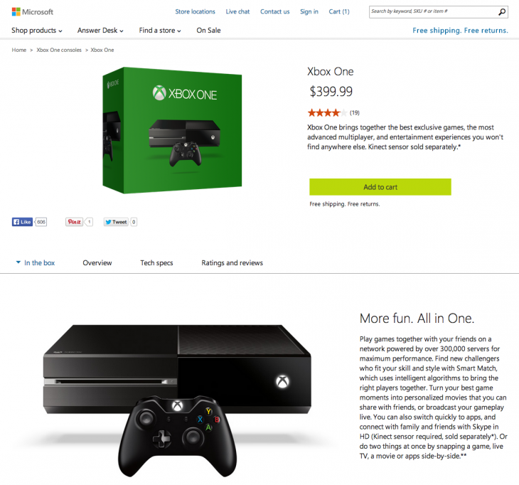 Screen Shot 2014 06 09 at 09.31.27 730x682 Microsoft begins selling the Xbox One without Kinect for $399.99